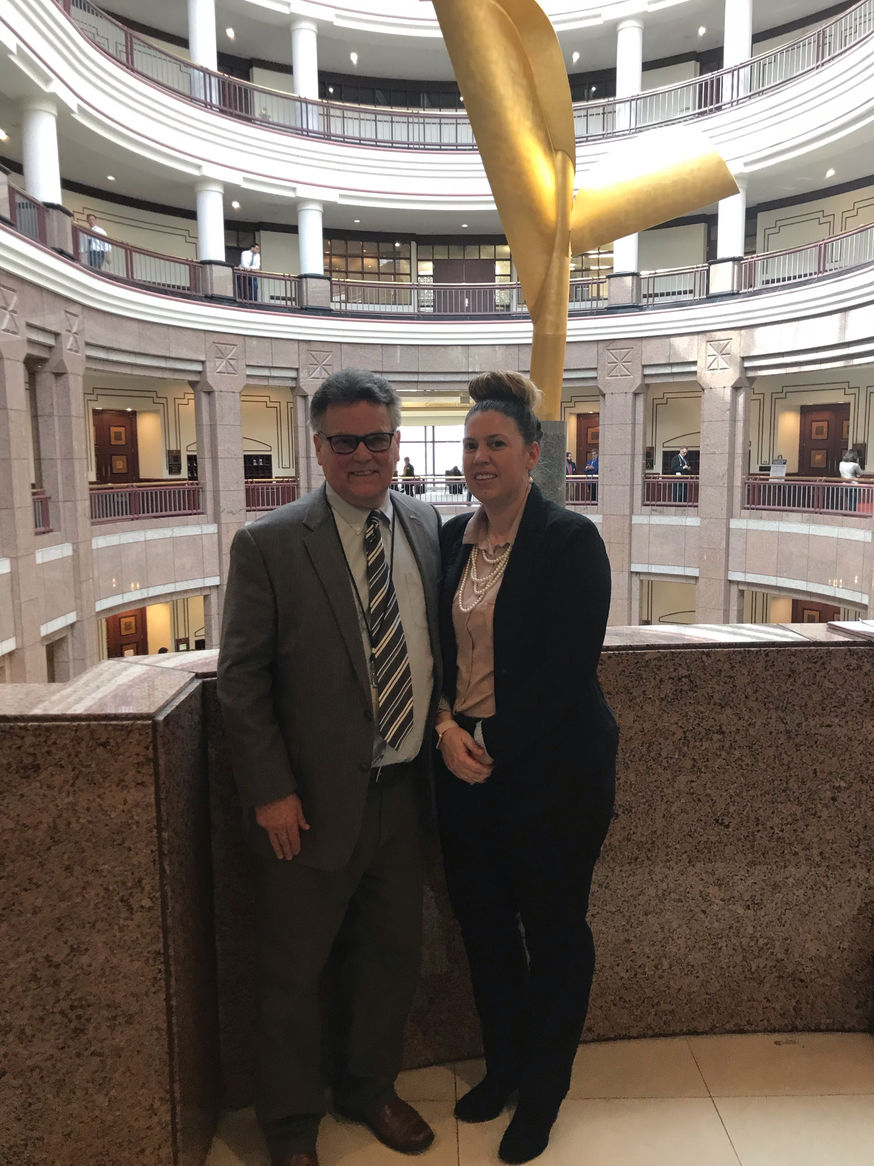 Erica Roman, meets with state Representative Jack Hennessy ...