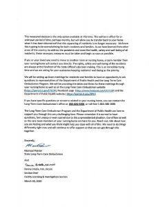 Notice From CT DPH Long-Term Care Ombudsman Regarding ...